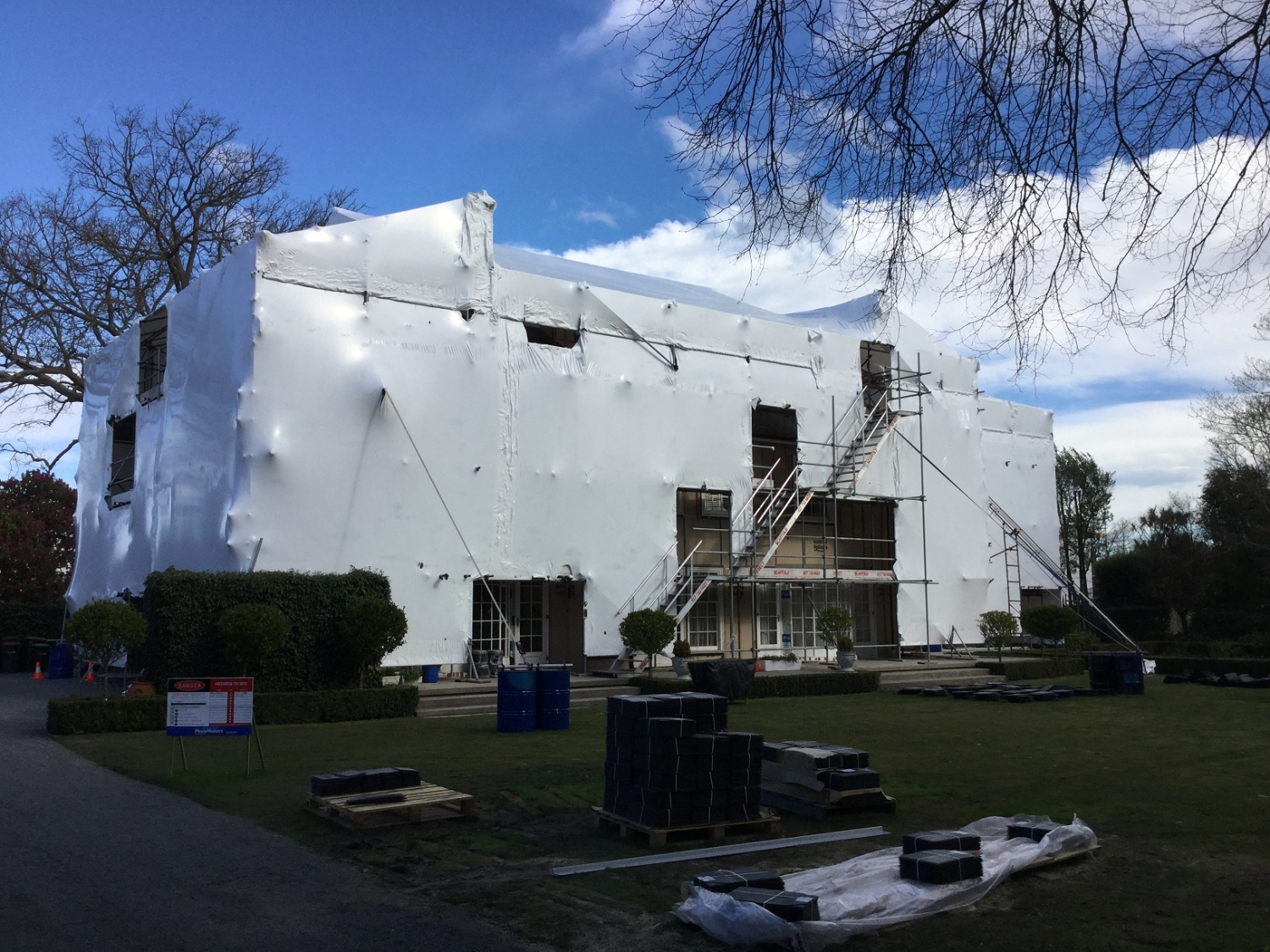 Erect Scaffolding Ltd. Shrink Wrap Christchurch Canterbury